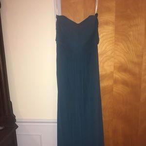 David's Bridal Bridesmaid Strapless Gown